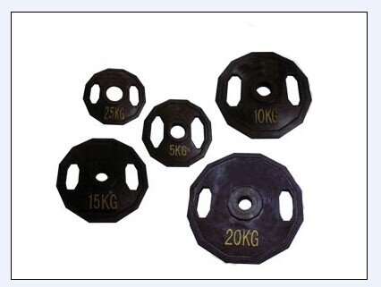 Commercial gym equipment plastic Barbell Weight Plate