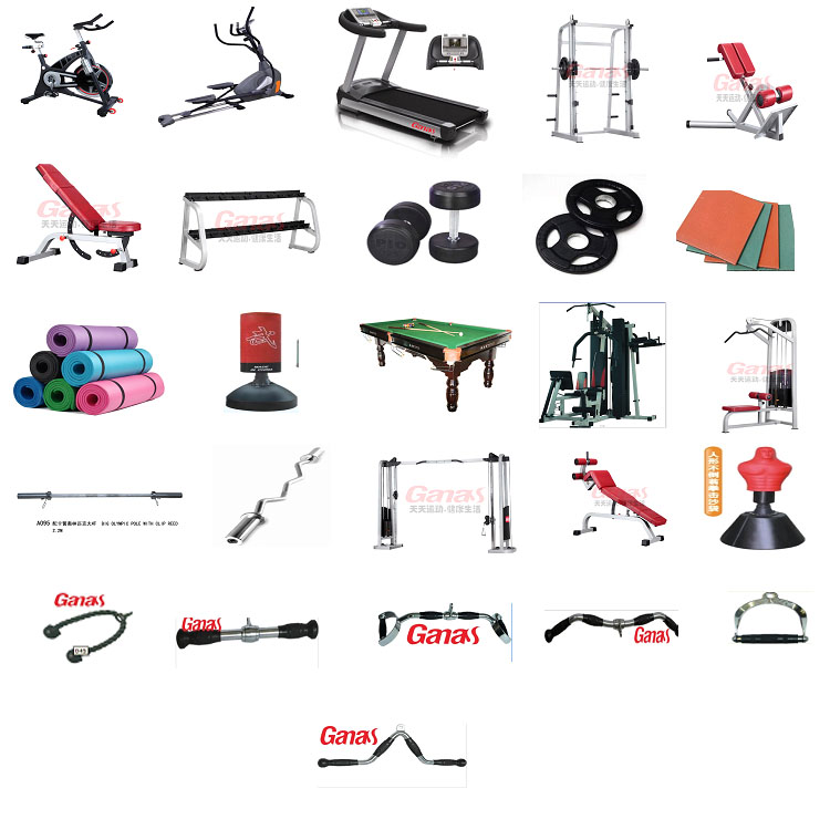 250-300㎡ full gym set package for commerical use