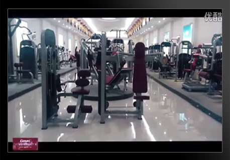 GANAS-Fitness equipment factory shocking film